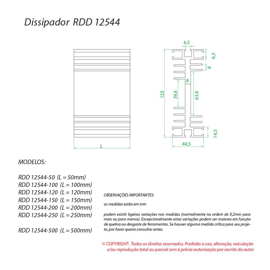 Dissipador de calor RDD 12544-250
