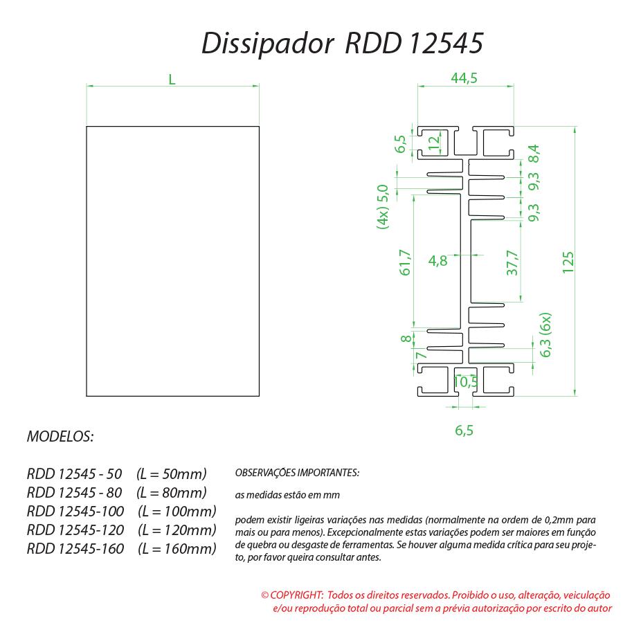 Dissipador de calor RDD 12545-100