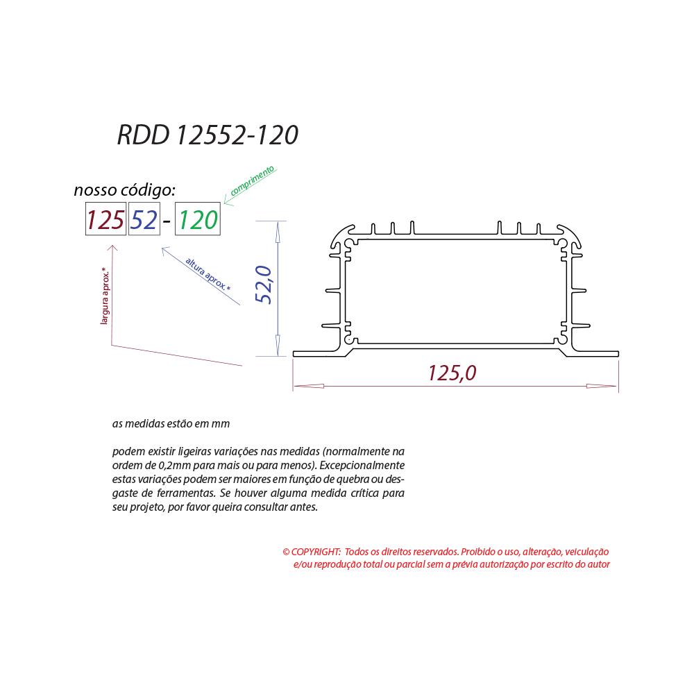 Dissipador de calor RDD 12552-120