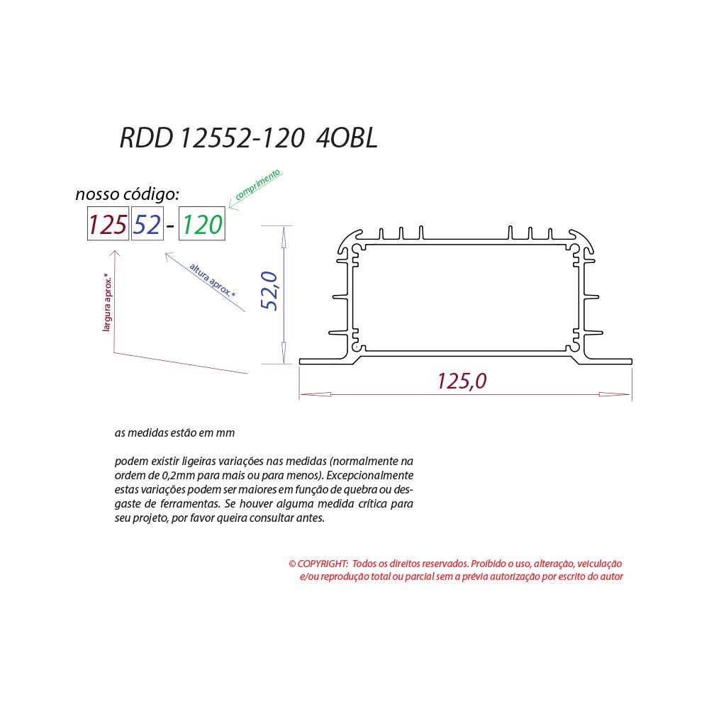 Dissipador de calor RDD 12552-120 4OBL