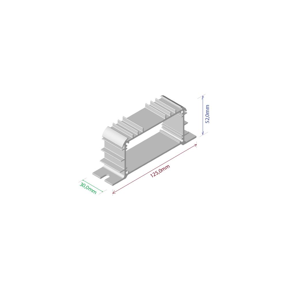 Dissipador de calor RDD 12552-30 2OBL