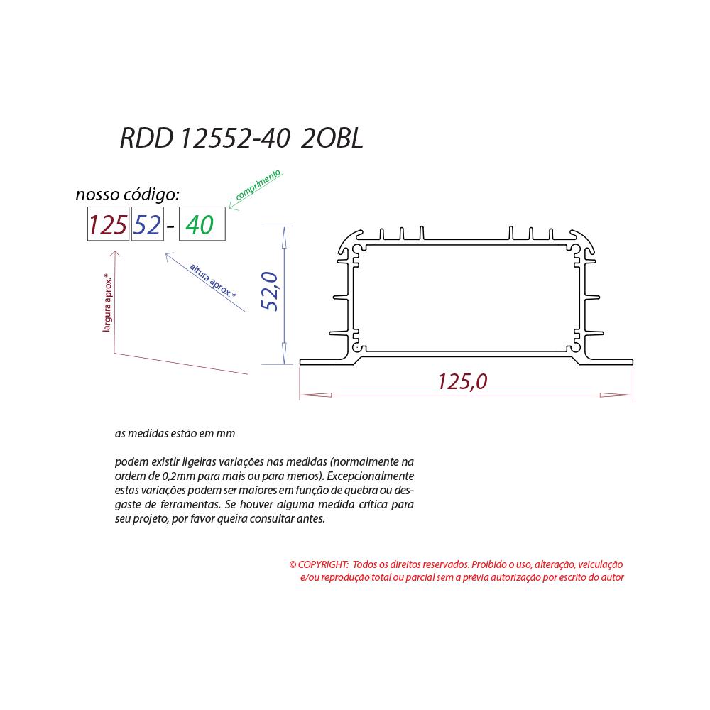 Dissipador de calor RDD 12552-40 2OBL