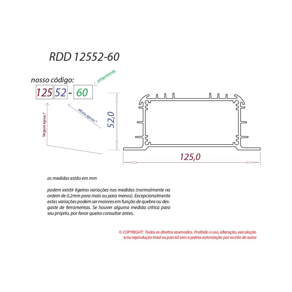 Dissipador de calor RDD 12552-60