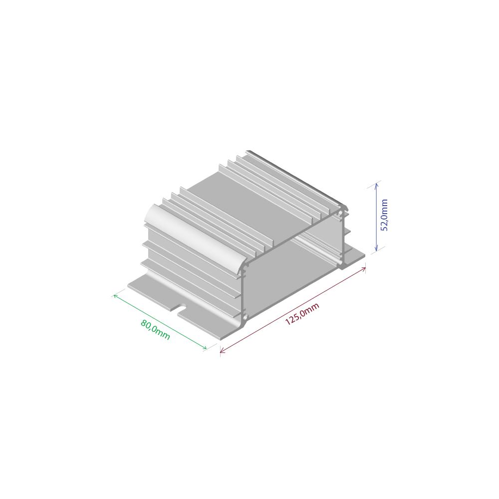 Dissipador de calor RDD 12552-80 2OBL