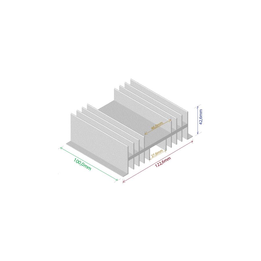 Dissipador de calor RDD 12643-100