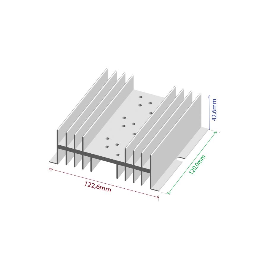 Dissipador de calor RDD 12643-120 3TO3