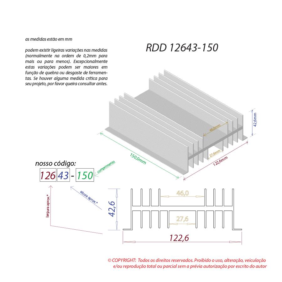 Dissipador de calor RDD 12643-150