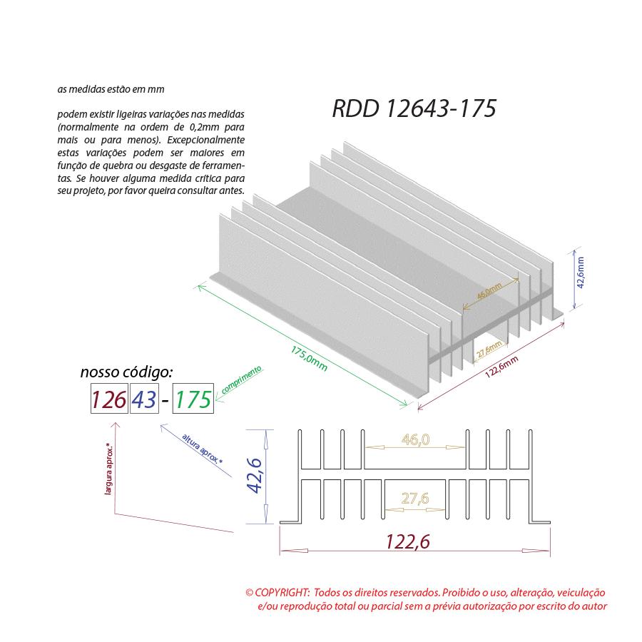Dissipador de calor RDD 12643-175