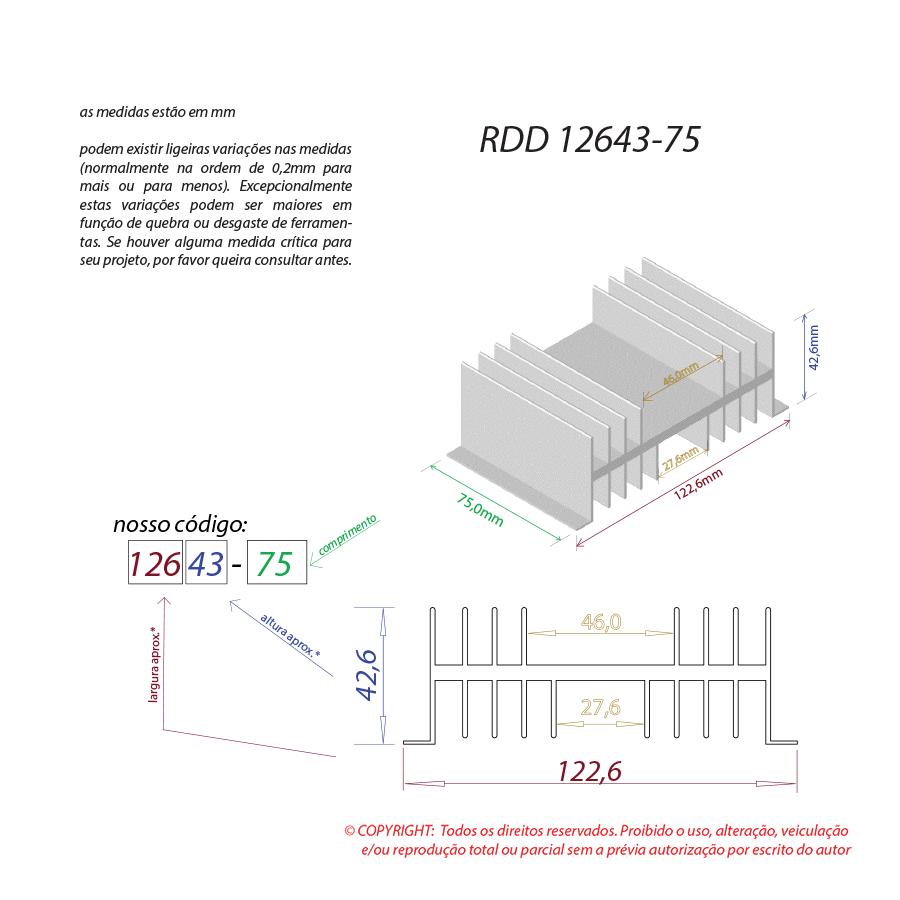 Dissipador de calor RDD 12643-75