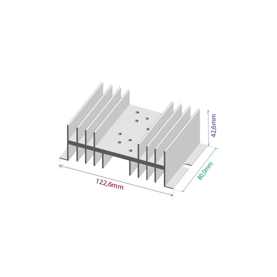 Dissipador de calor RDD 12643-80 2TO3