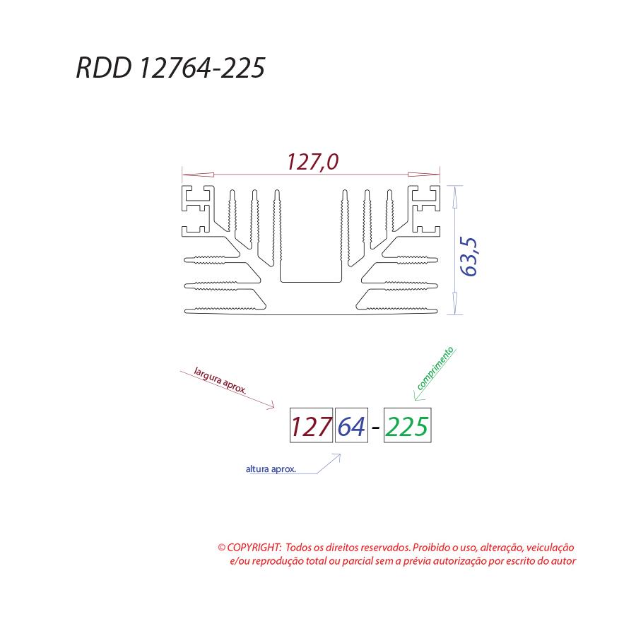 Dissipador de calor RDD 12764-225