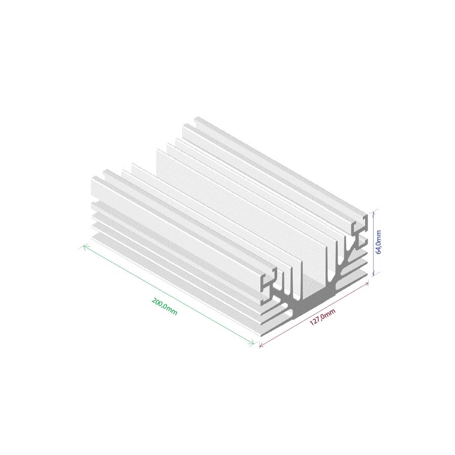 Dissipador de calor RDD 12764L-200