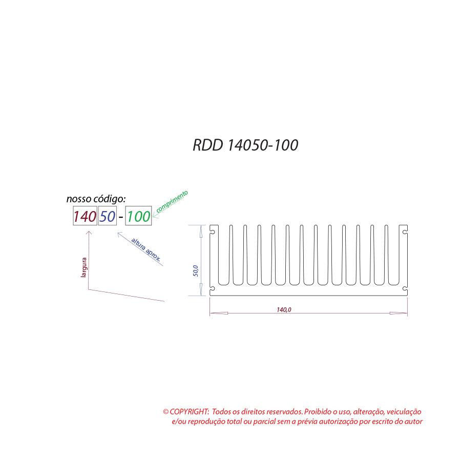 Dissipador de calor RDD 14050-100