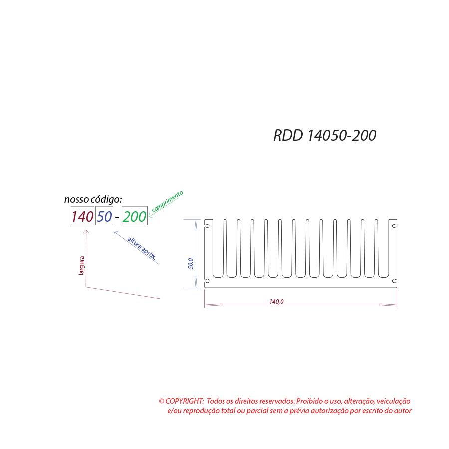 Dissipador de calor RDD 14050-200