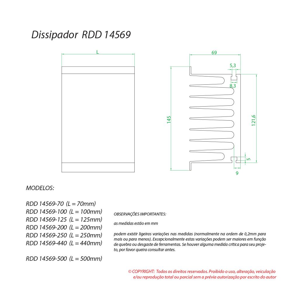Dissipador de calor RDD 14569-125