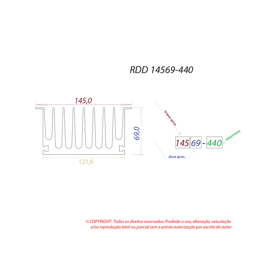 Dissipador de calor RDD 14569-440