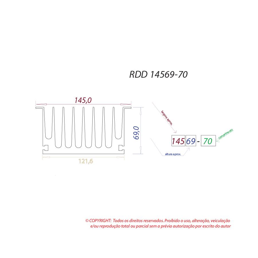 Dissipador de calor RDD 14569-70