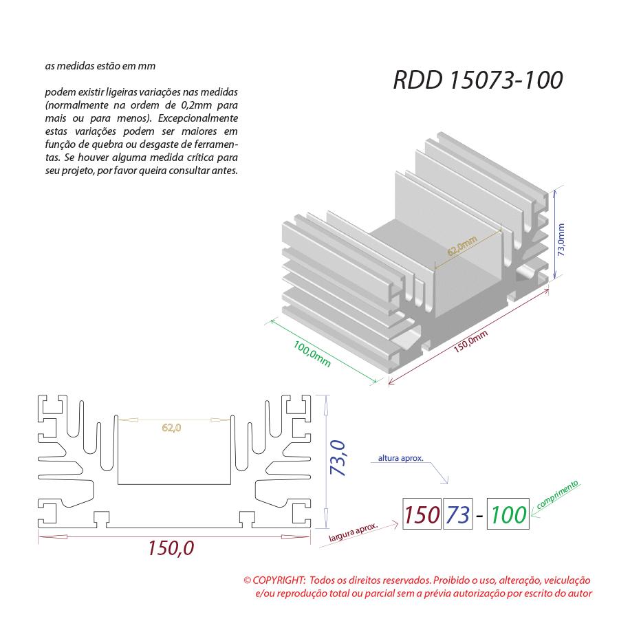 Dissipador de calor RDD 15073-100