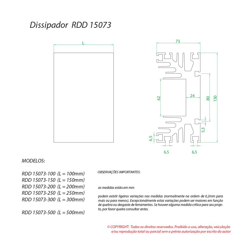 Dissipador de calor RDD 15073-200