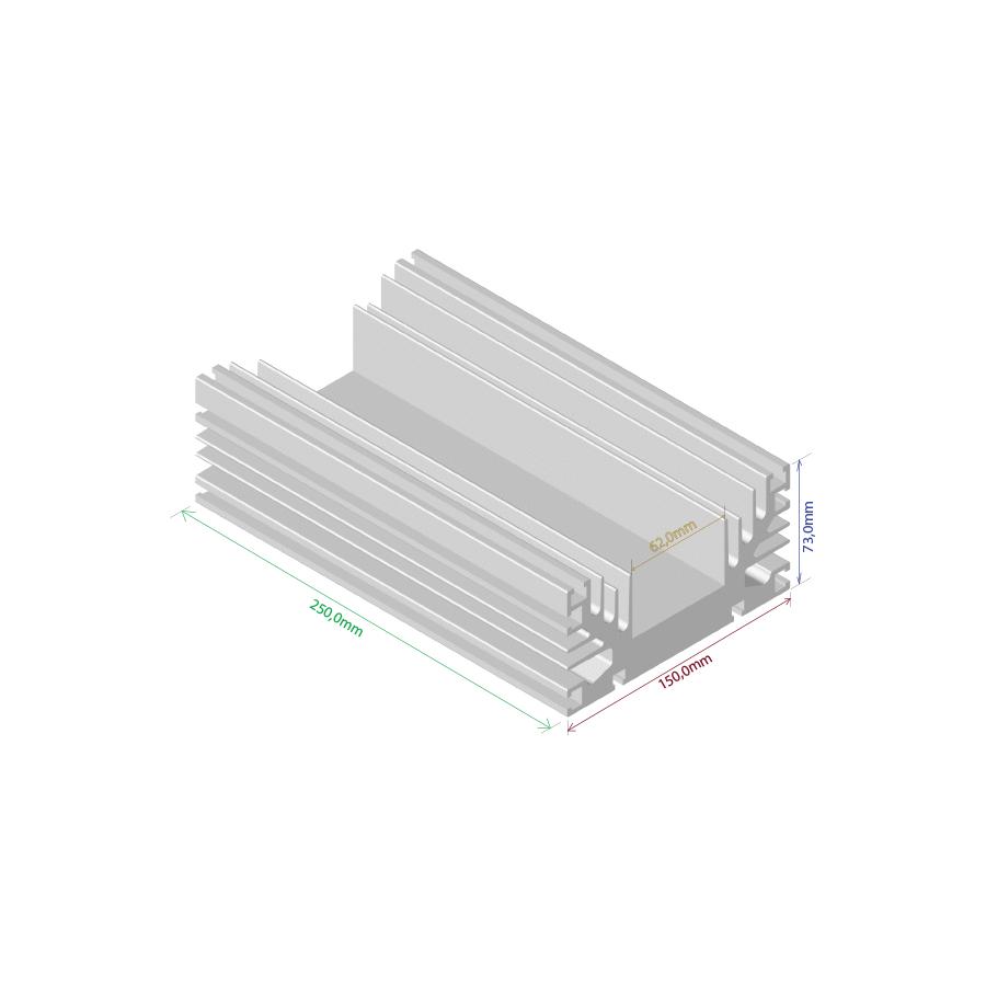 Dissipador de calor RDD 15073-250