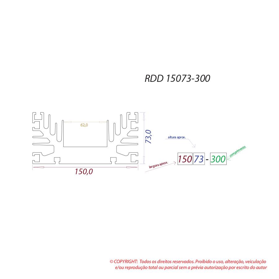 Dissipador de calor RDD 15073-300