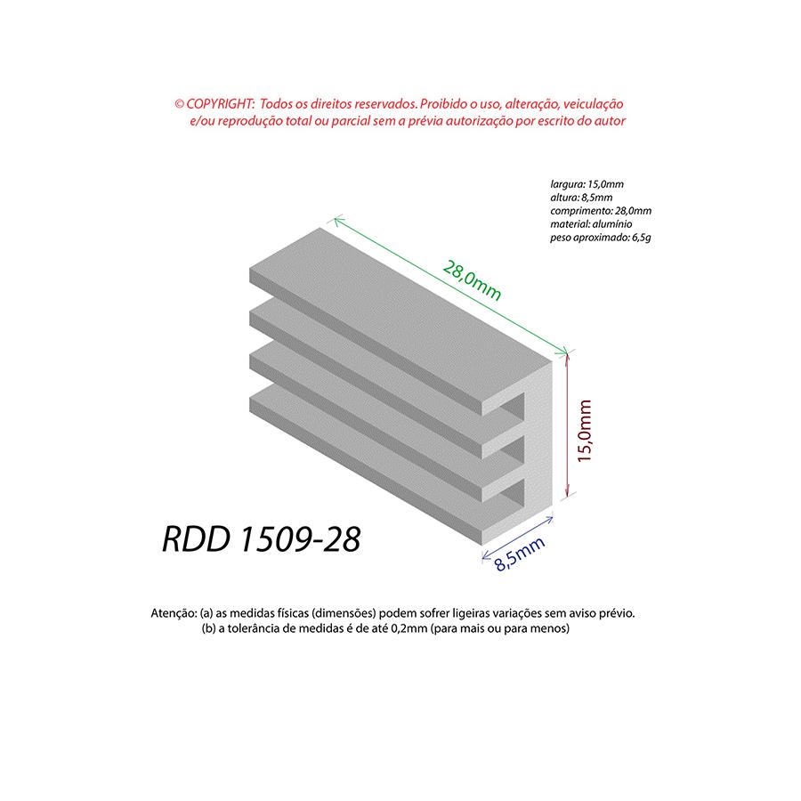 Dissipador de Calor RDD 1509-28