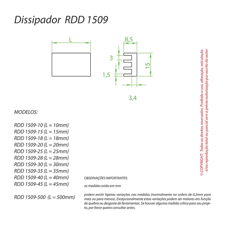 Dissipador de Calor RDD 1509-45