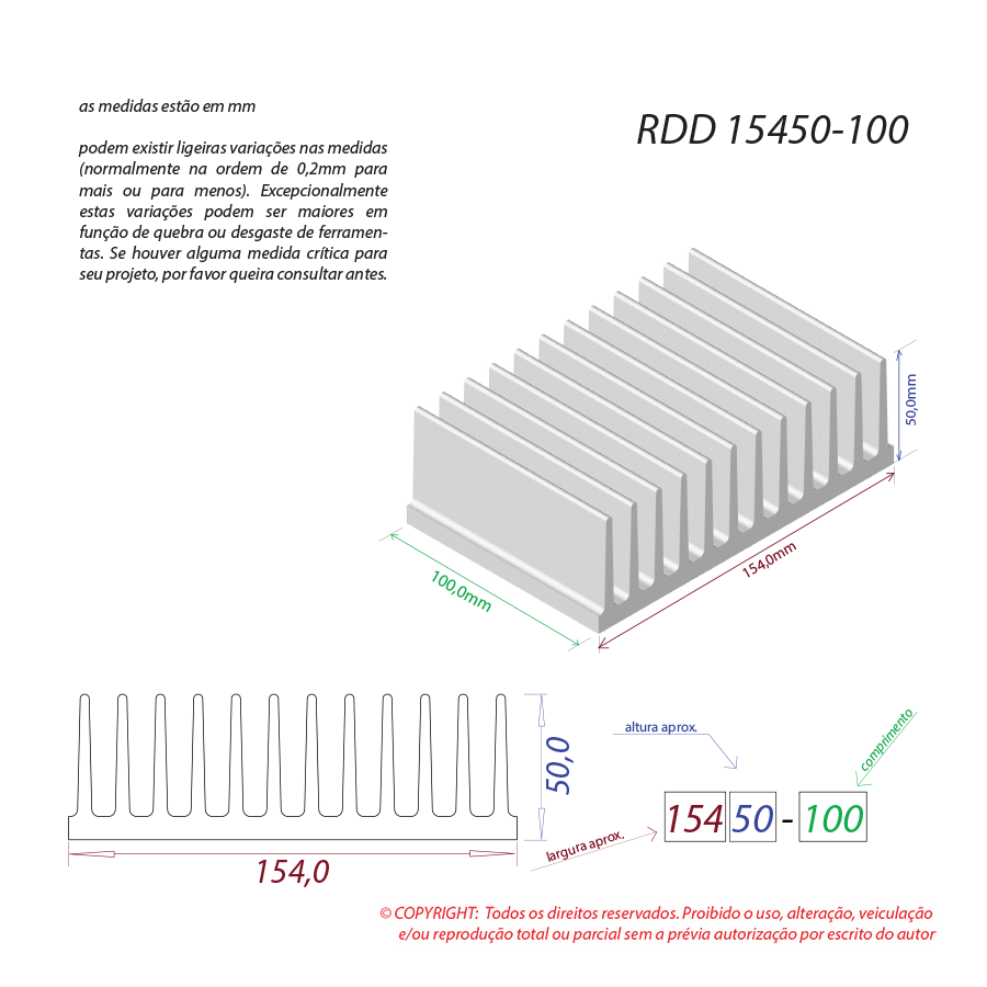 Dissipador de calor RDD 15450-100