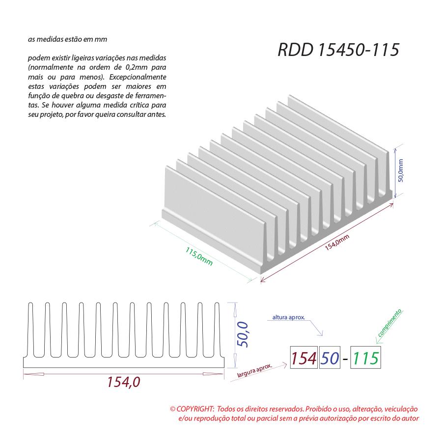 Dissipador de calor RDD 15450-115
