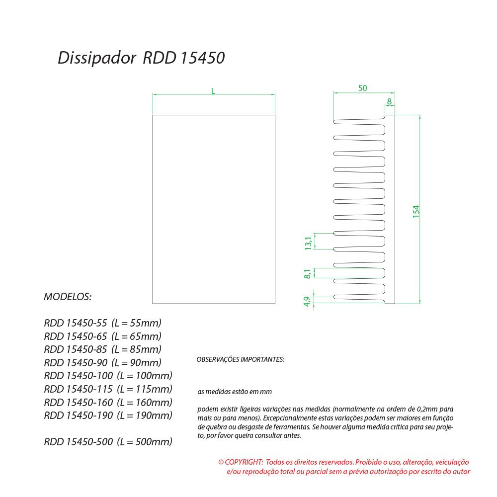 Dissipador de calor RDD 15450-55
