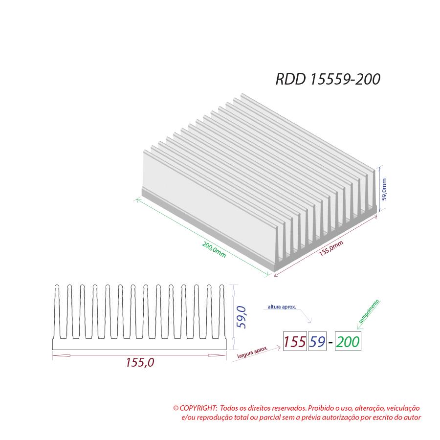 Dissipador de calor RDD 15559-200