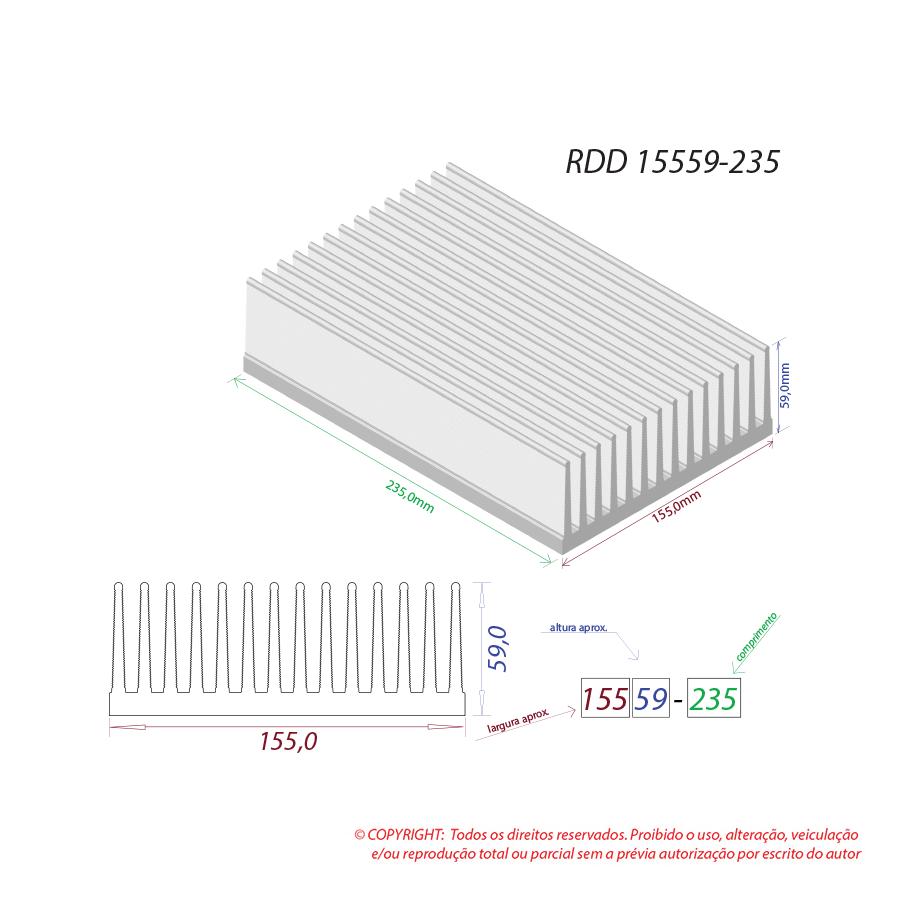 Dissipador de calor RDD 15559-235