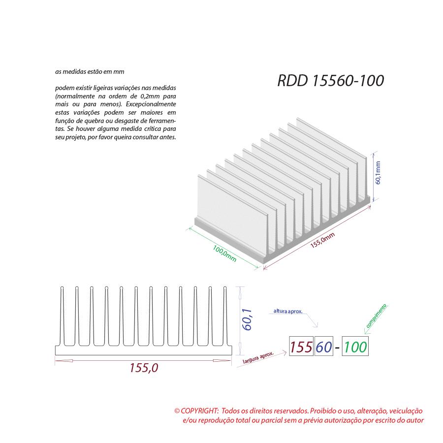 Dissipador de calor RDD 15560-100