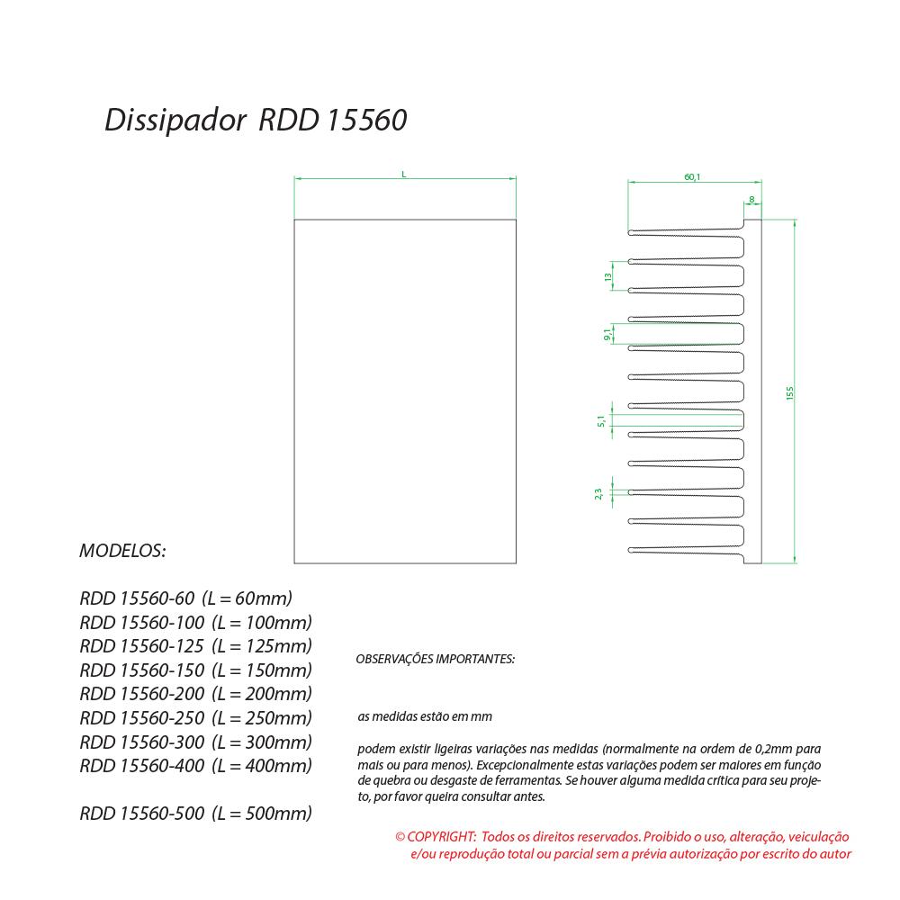 Dissipador de calor RDD 15560-300