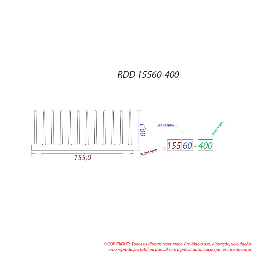 Dissipador de calor RDD 15560-400