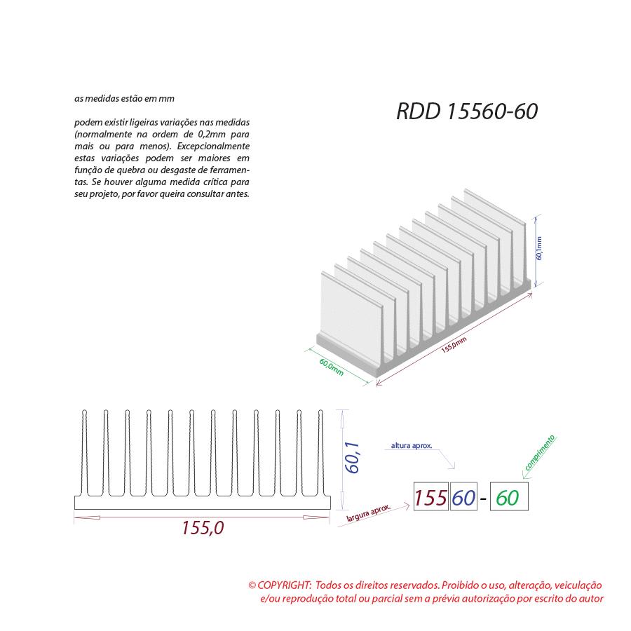 Dissipador de calor RDD 15560-60