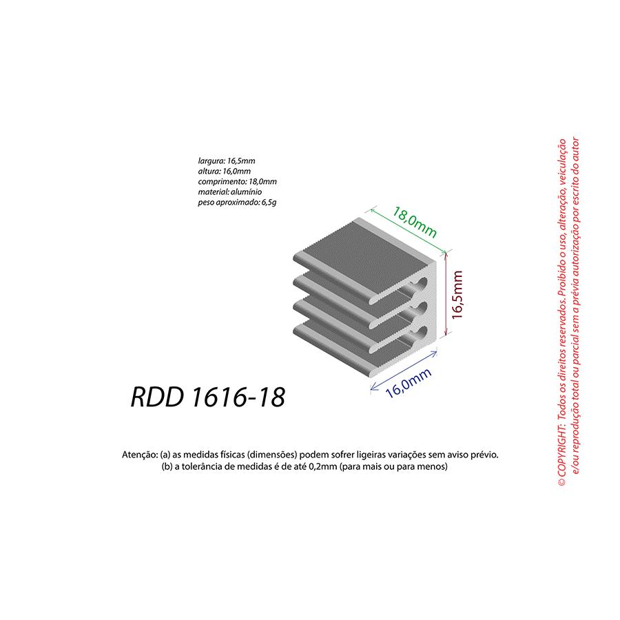 Dissipador de Calor RDD 1616-18