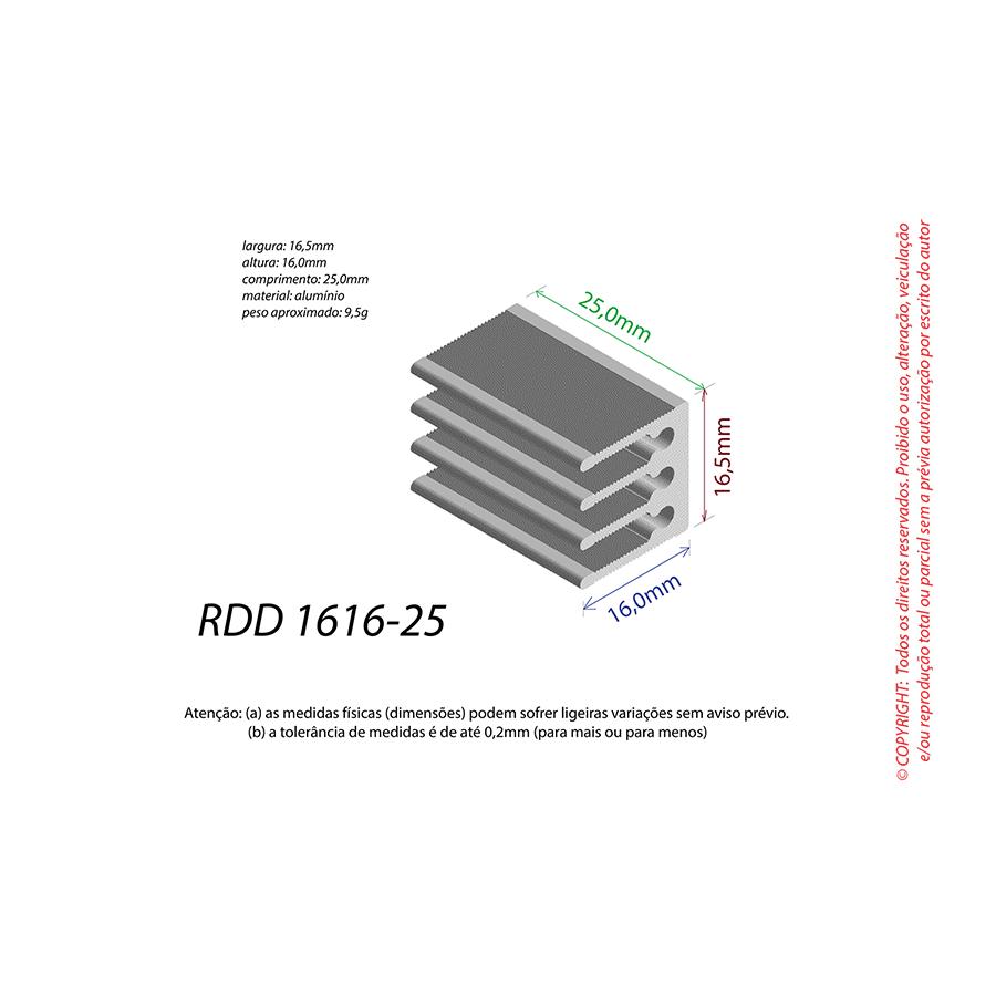 Dissipador de Calor RDD 1616-25