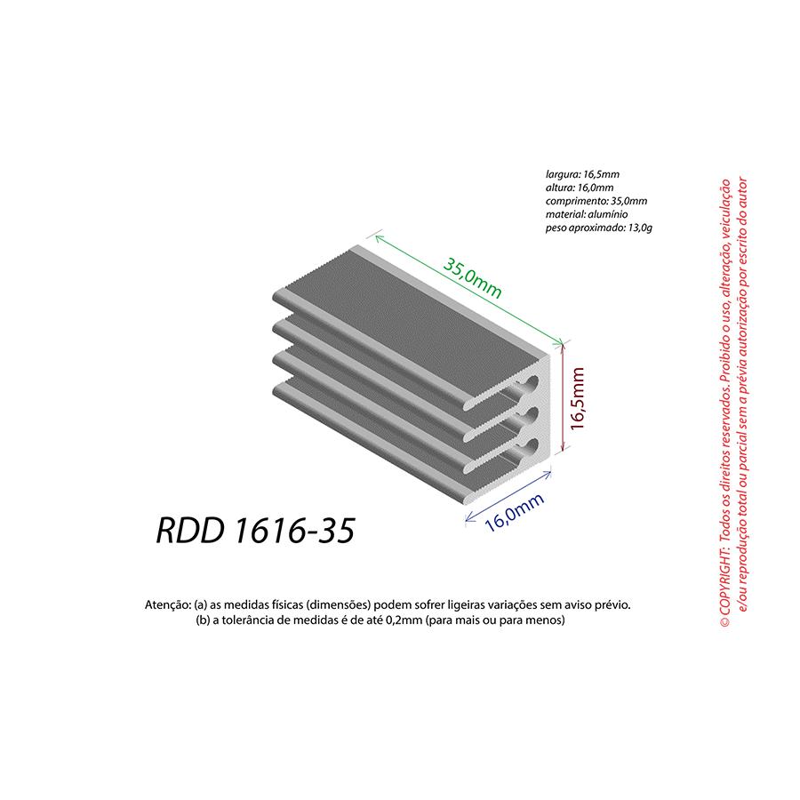 Dissipador de Calor RDD 1616-35