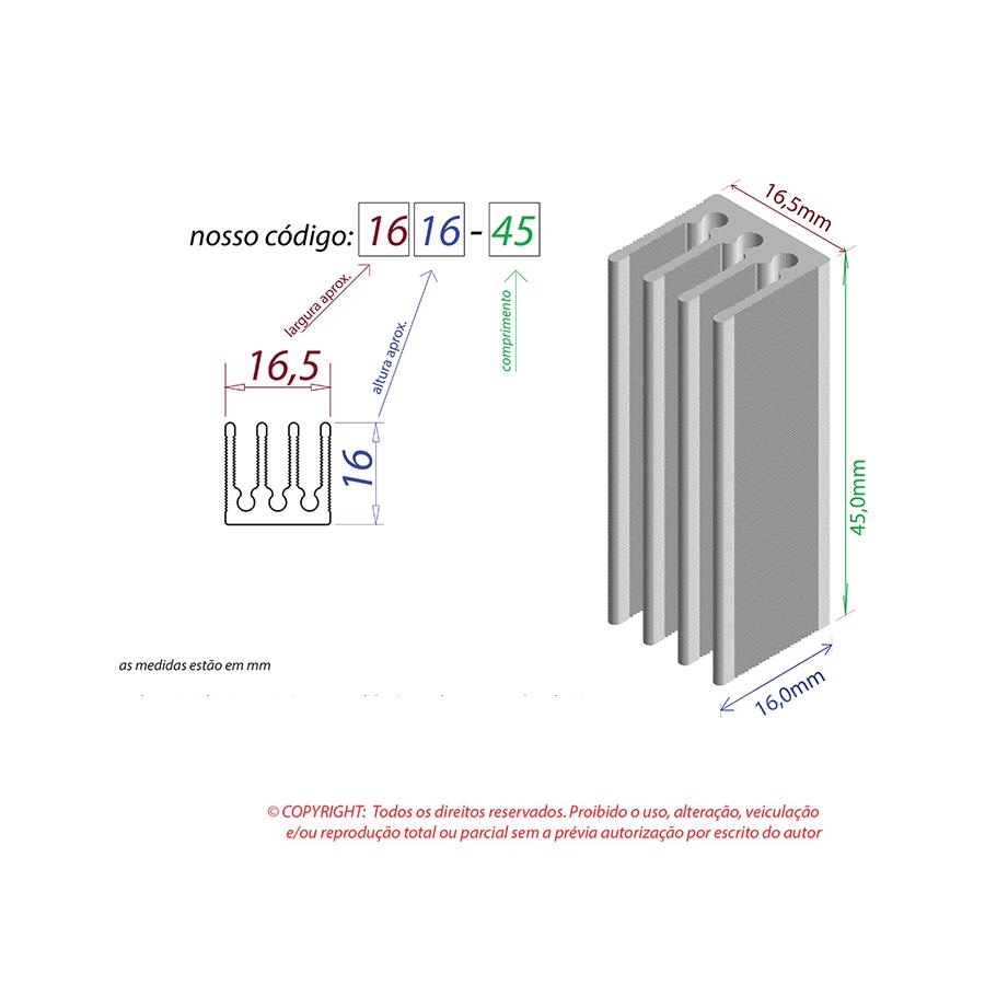 Dissipador de Calor RDD 1616-45