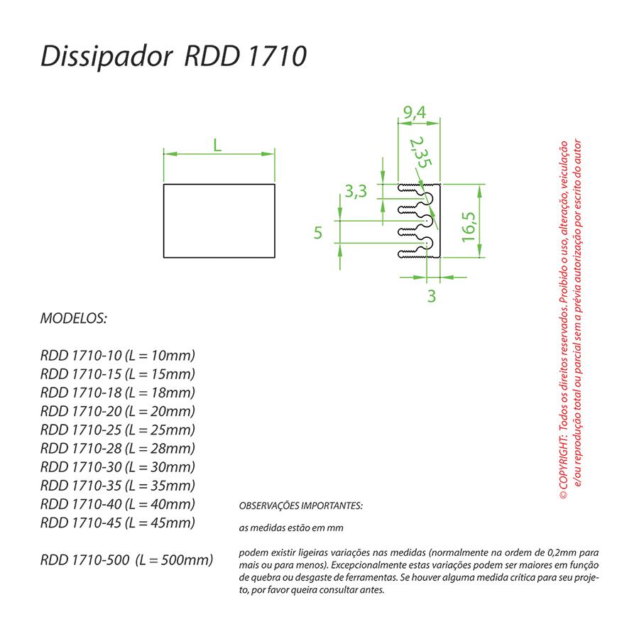 Dissipador de Calor RDD 1710-25