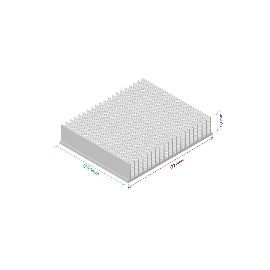 Dissipador de calor RDD 17232-150