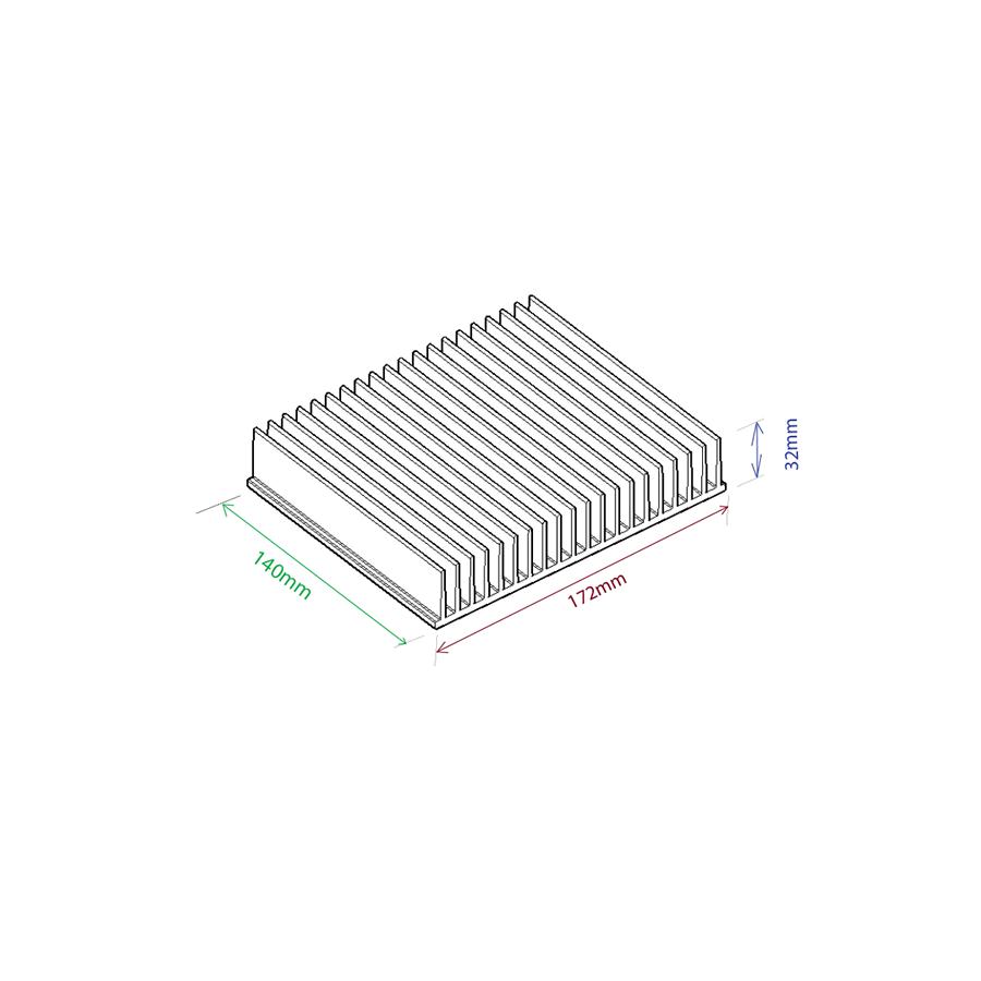 Dissipador de calor RDD 17232L-140
