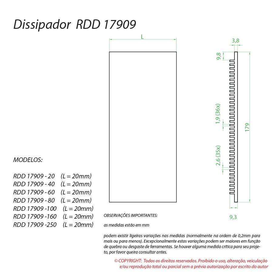 Dissipador de calor RDD 17909-250