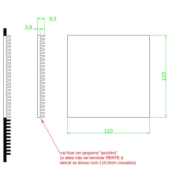 Dissipador de Calor RDD 179(110)09-110