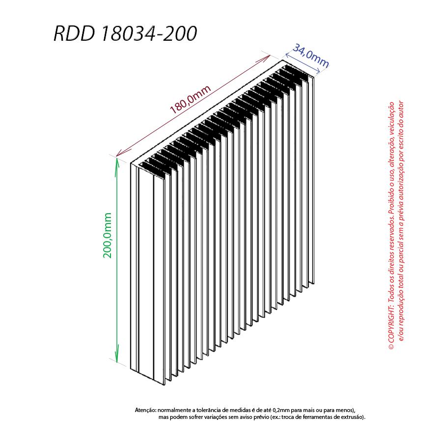 Dissipador de calor RDD 18034-200