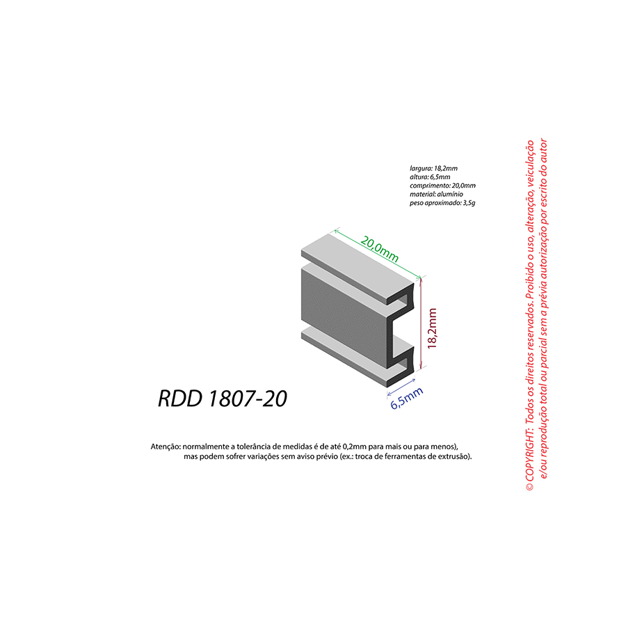 Dissipador de Calor RDD 1807-20