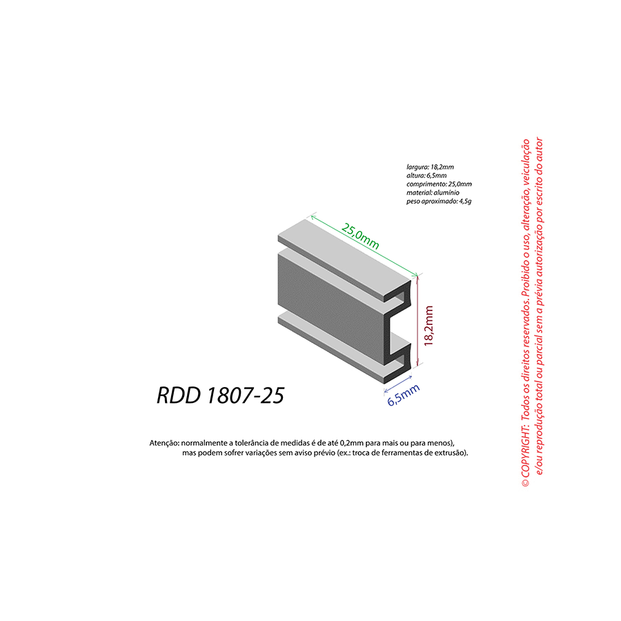 Dissipador de Calor RDD 1807-25