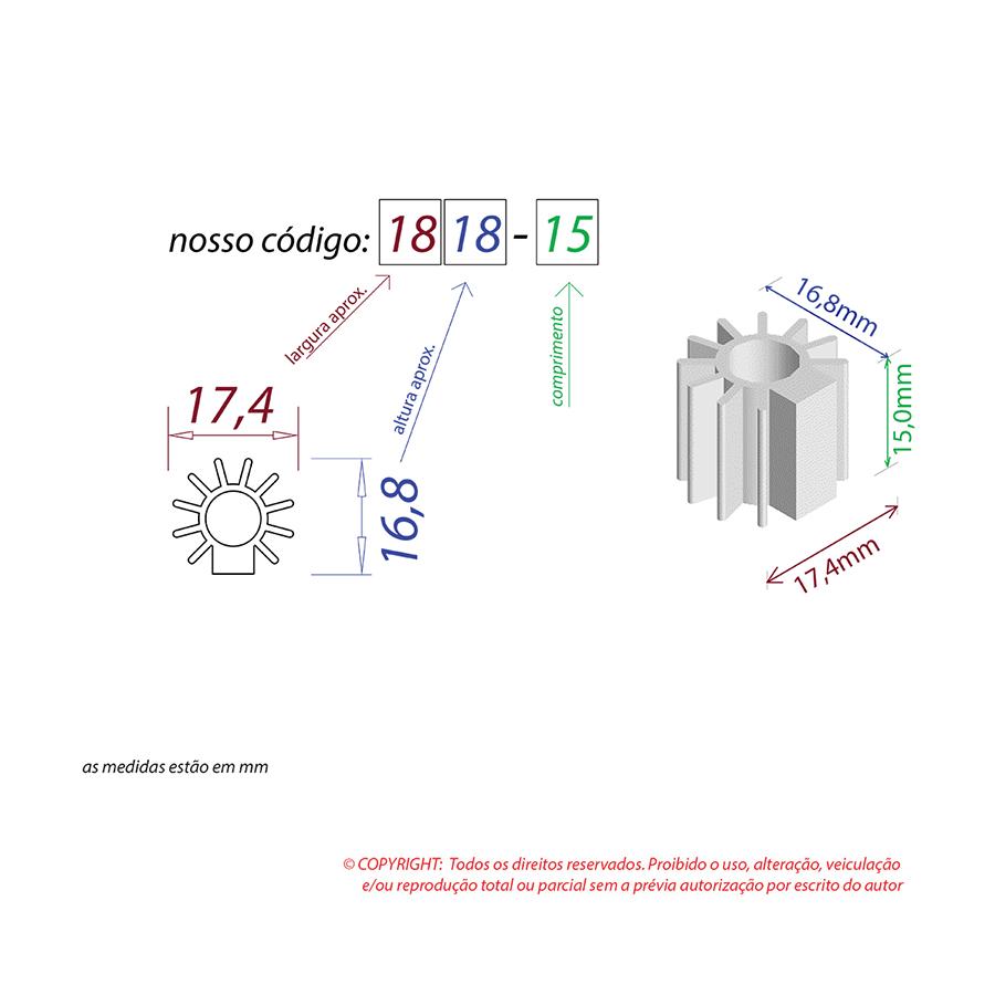 Dissipador de Calor RDD 1818-15