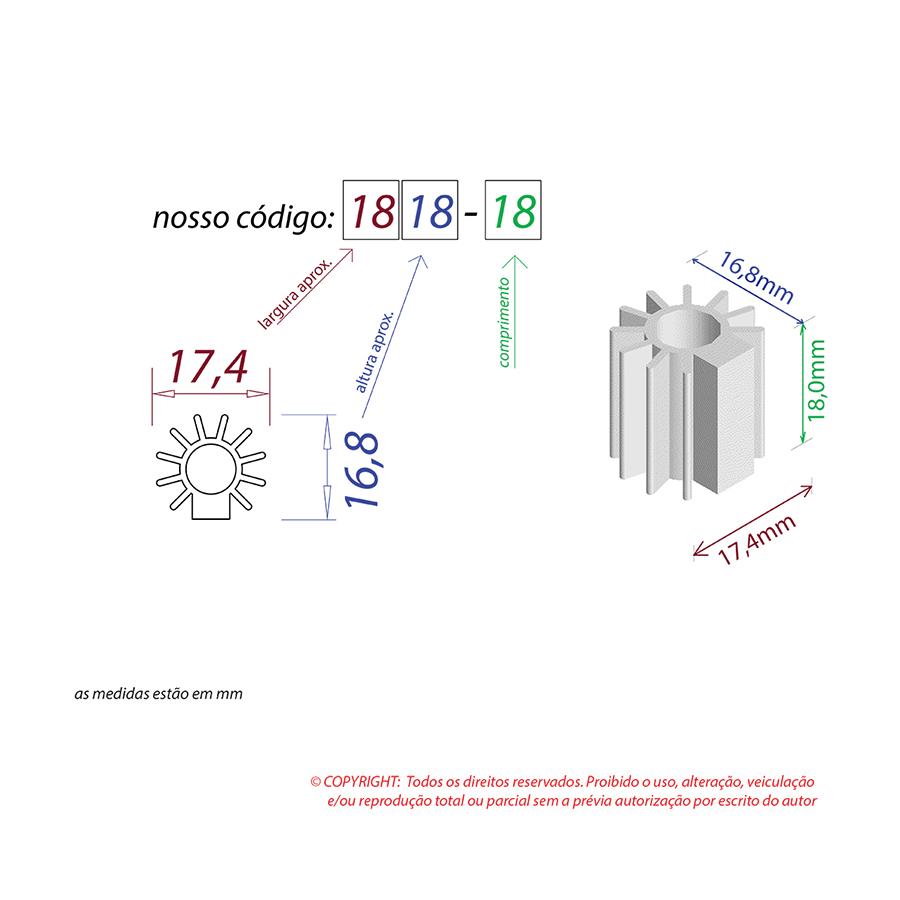 Dissipador de Calor RDD 1818-18